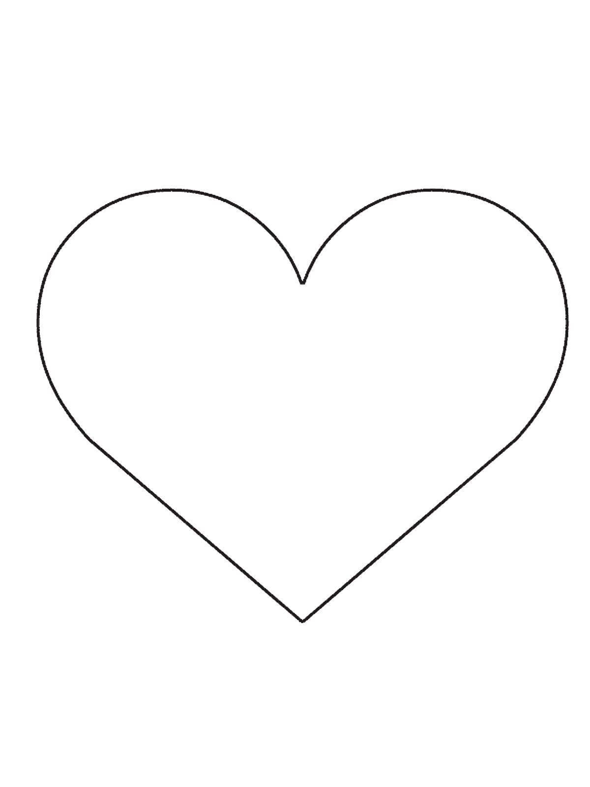 Раскраски Контуры сердце Раскраски Контуры сердце, сердечки, сердца для малышей