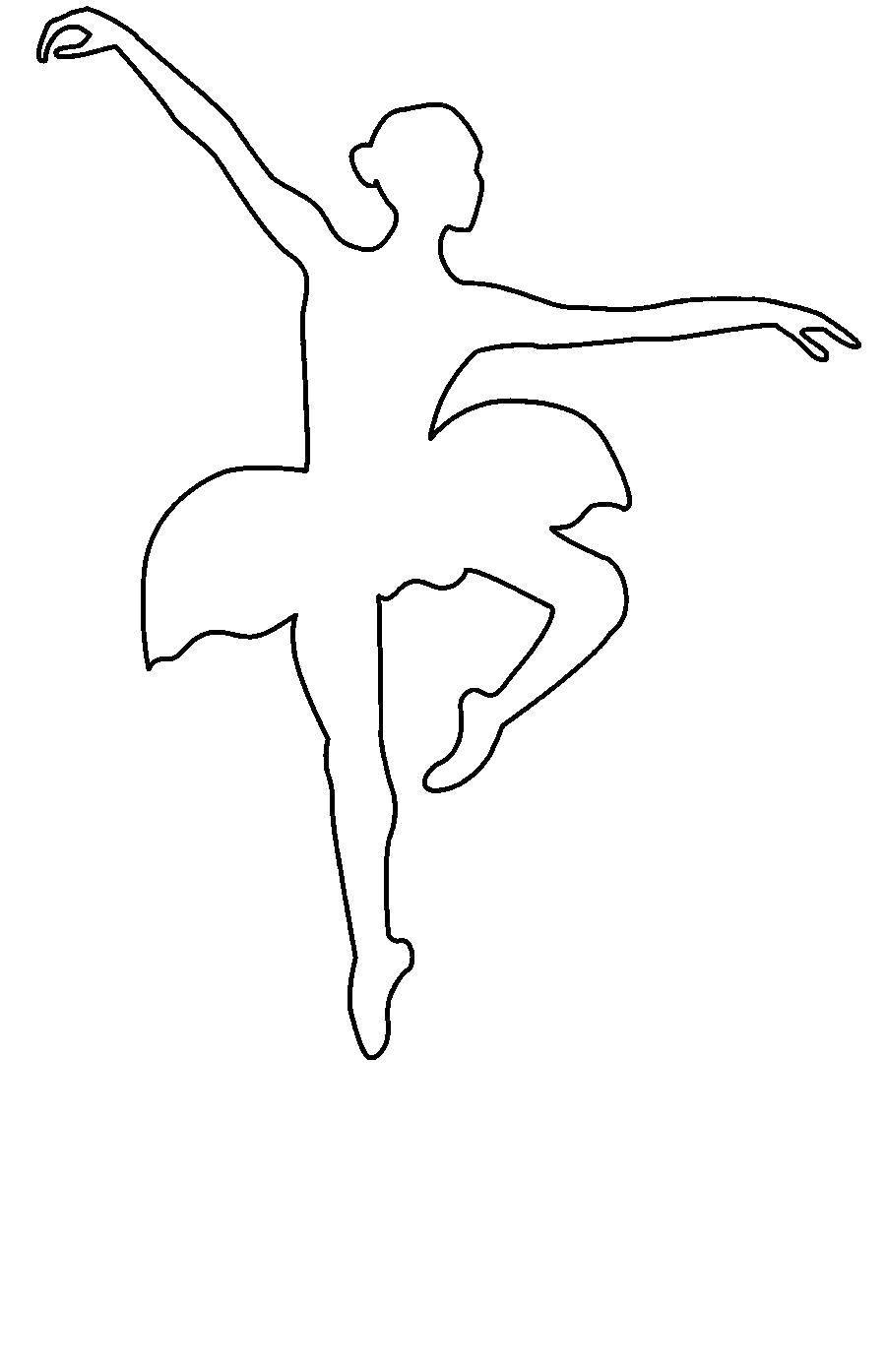 Раскраски Контуры балерина Раскраски Контуры балерина, танцующая балерина, раскраски для малышей