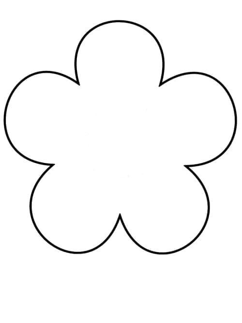 Раскраски Контуры цветы Раскраски Контуры цветов для вырезания детям, ромашка, роза