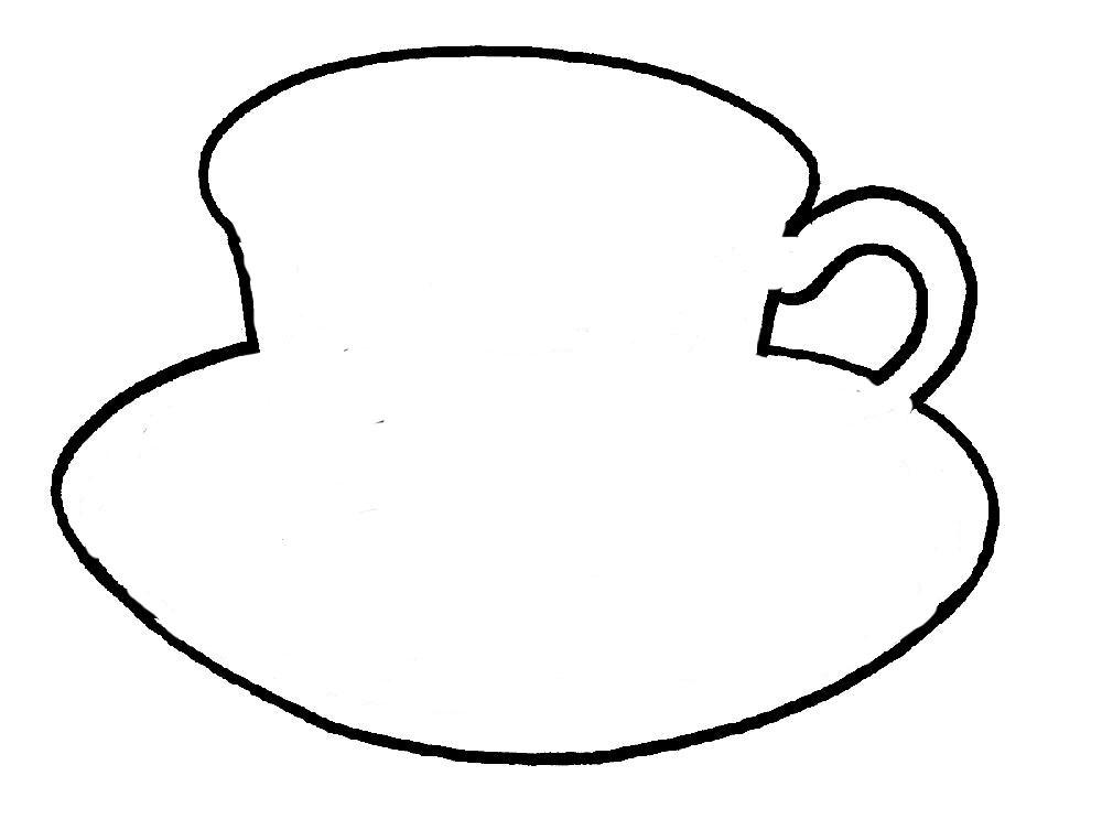 Раскраски Контуры посуда Раскраски Контуры посуды для вырезания из бумаги