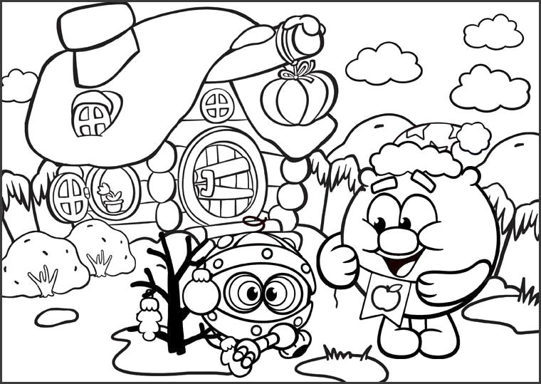 Раскраски Российские мультфильмы Раскраски из российских мультфильмов для самых маленьких