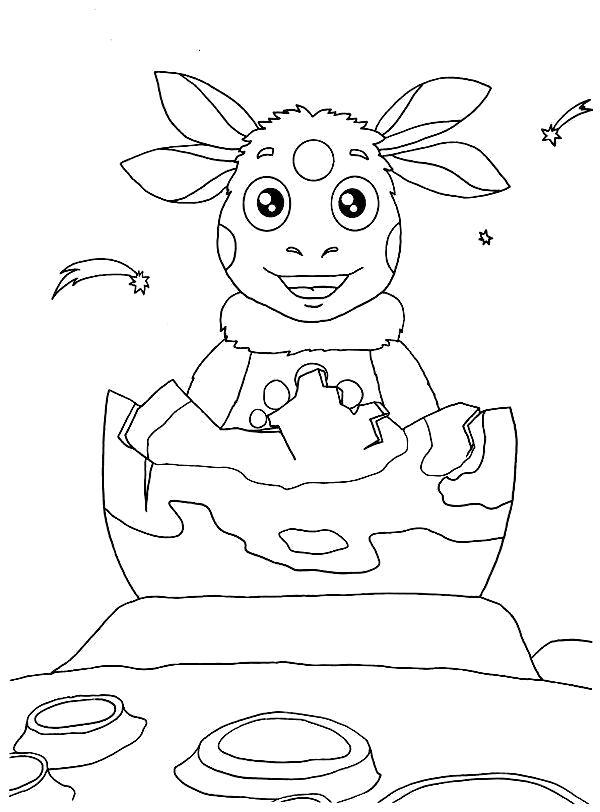 Раскраски Лунтик Раскраски для малышей с Лунтиком, раскраски для самых маленьких