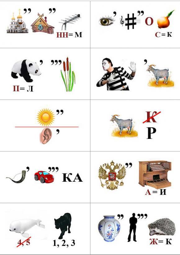 Ребусы Ребусы различной сложности для детей. Игры на логику для детей