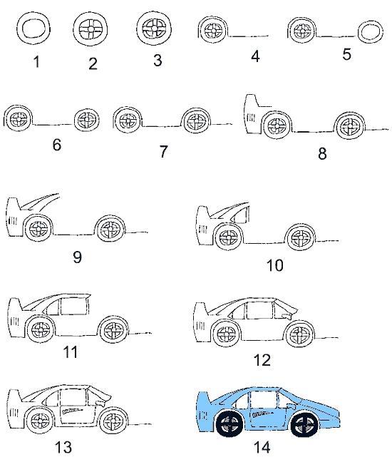 Рисуем транспорт Рисуем транспорт. Простые и сложные поэтапные уроки рисования транспорта для детей и взрослых