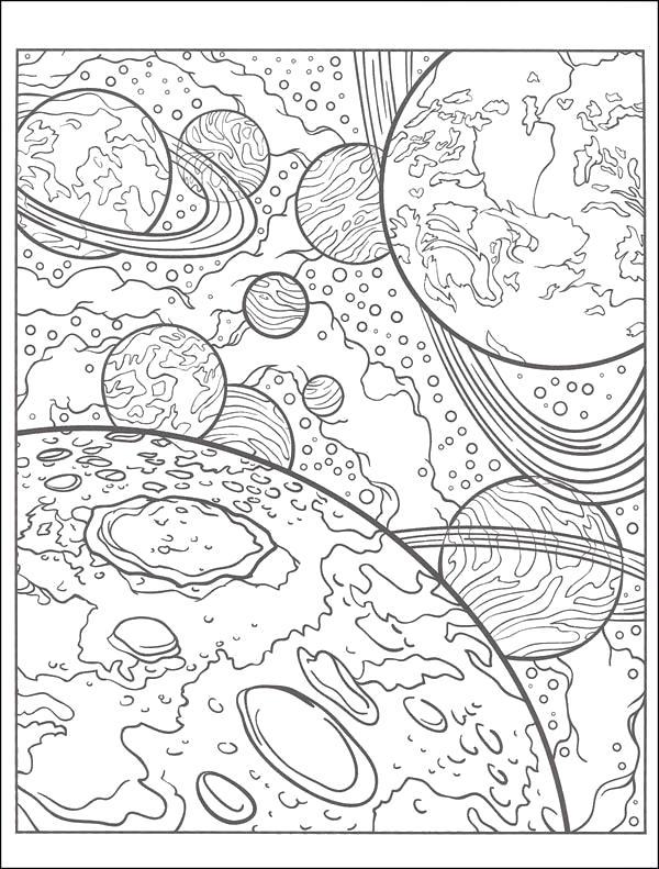 Раскраски Космос Раскраски Космос для школьников и детей по-младше