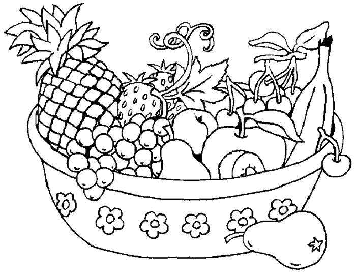 Раскраски Фрукты Раскраски Фрукты, разные виды в раскрасках с подписями с названиями для детей