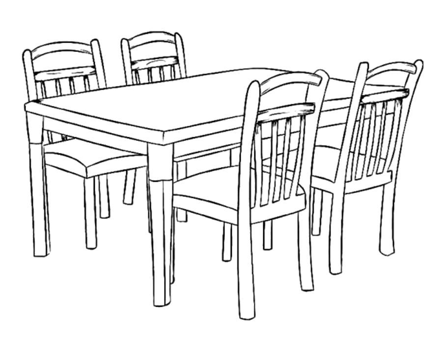 Раскраски Мебель Раскраски Мебель, диван, кресло, кровать, шкаф, стол, стул, кресло и т.д