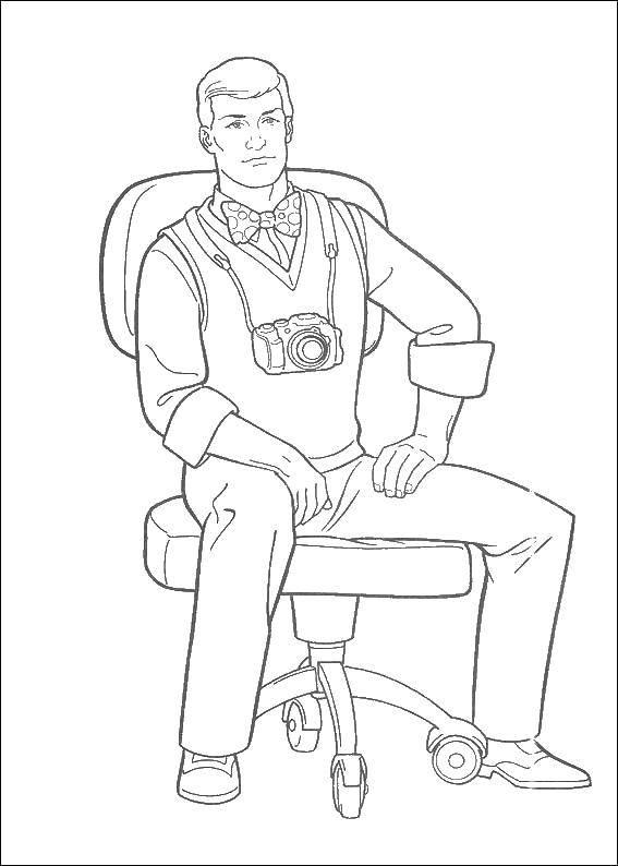Раскраски Мужчина Раскраски Мужчина, парень. Раскраски с людьми для детей