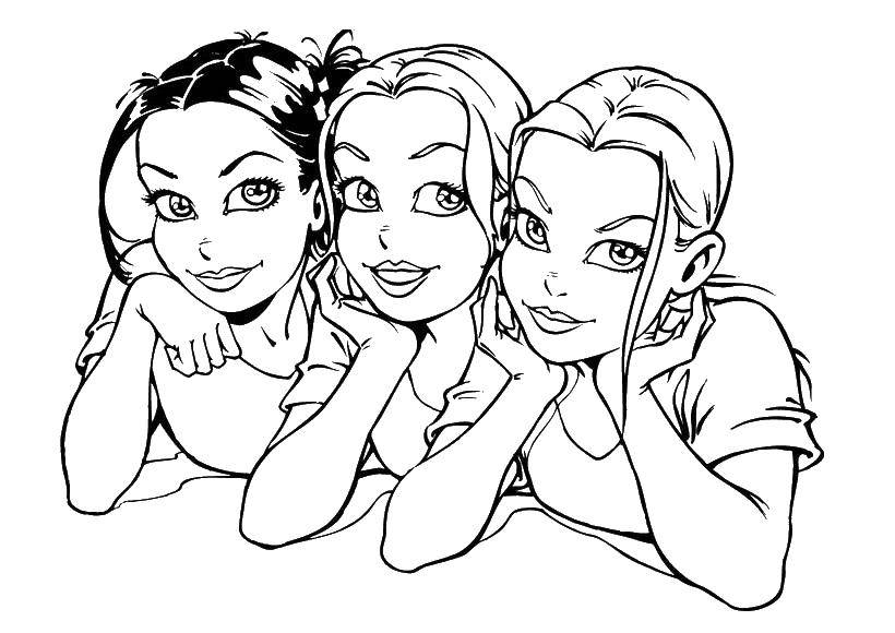 Раскраски Девочки Раскраски Девочки играют, учатся, раскраски с девочками для детей