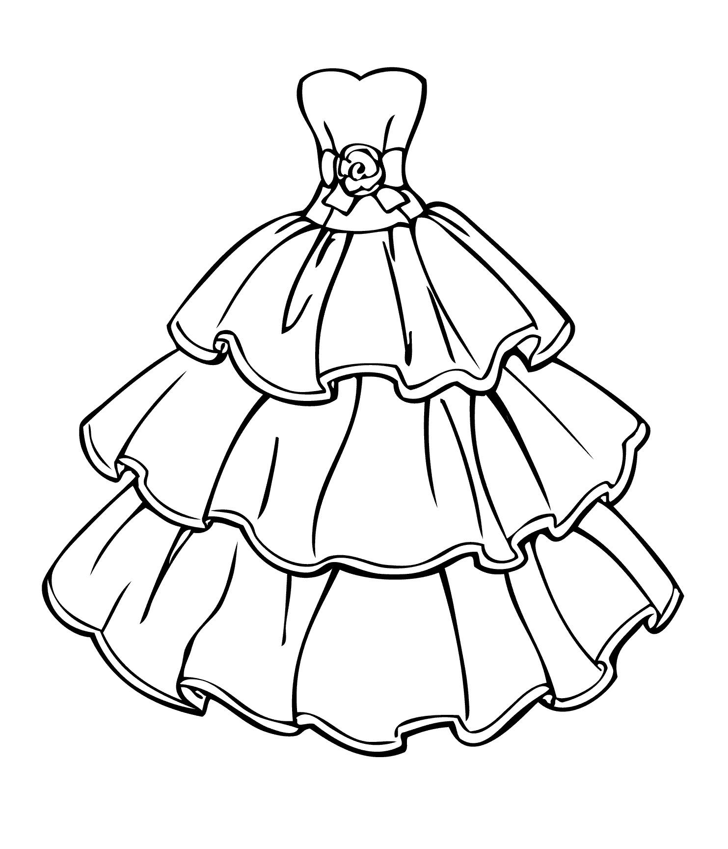 Раскраски платья Раскраски платья, раскраски для девочек с красивыми платьями