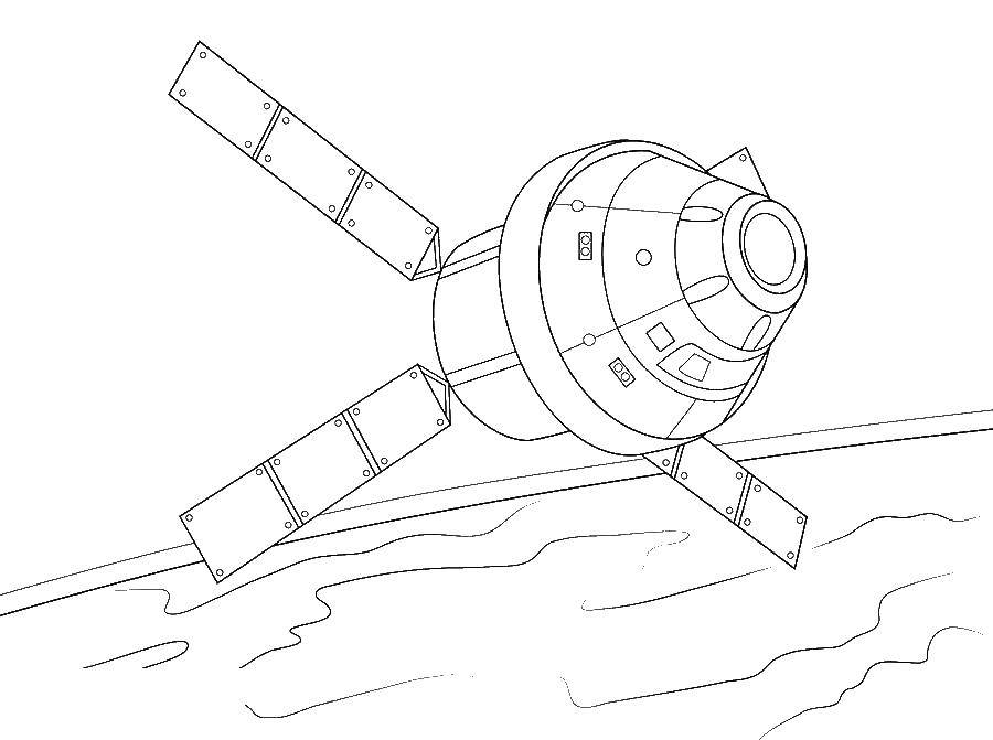 Раскраски Космические корабли Раскраски Космические корабли. Раскраски с космическим транспортом, исследовательскими кораблями и аппаратами