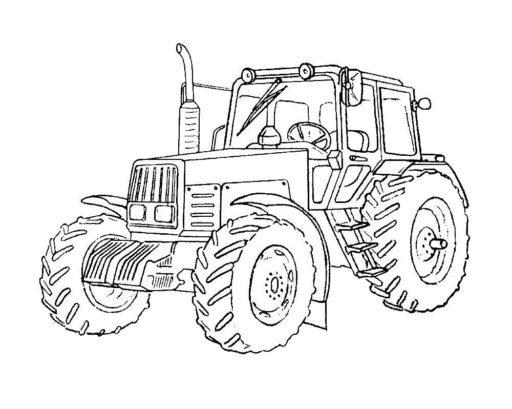 Раскраски трактор Раскраски трактор, раскраски для мальчиков трактор в поле, тракторист