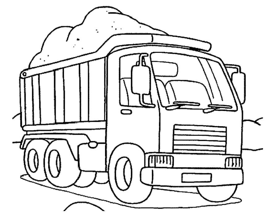 Раскраски грузовики Раскраски грузовики, раскраски груженых грузовиков, раскраски тягач