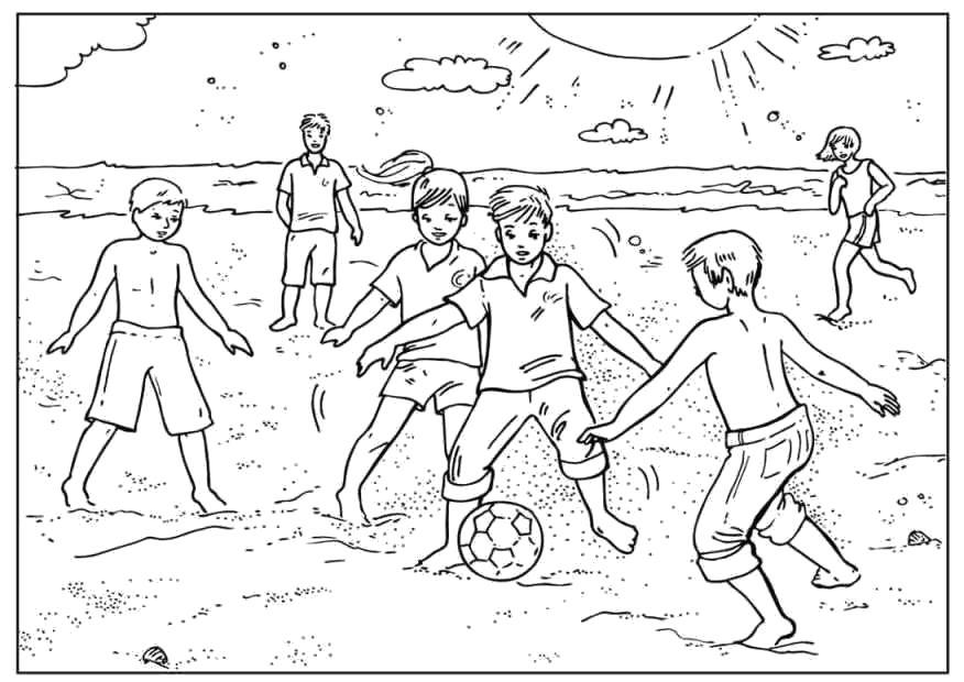 Раскраски футбол Раскраски футбол. Раскраски футболист, футбольный матч, футбольный мяч, футбол на песке, дети играют в футбол