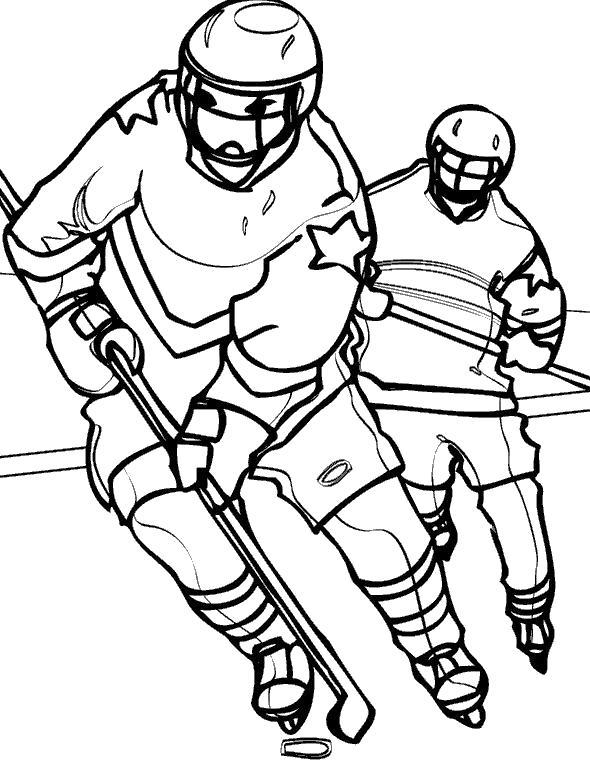 Раскраски хоккей Раскраски хоккей. Раскраски хоккеист, клюшка, шайба, хоккеист, играть в хоккей