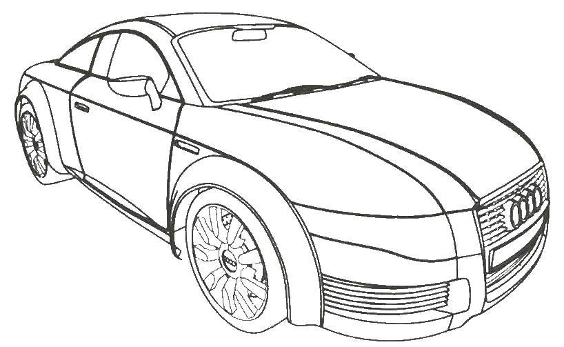 Раскраски машины Audi Раскраски Машины Audi, раскраски марка машин ауди
