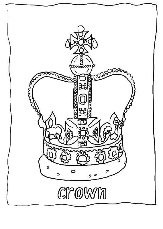 Раскраски короны Раскраски короны, крутые раскраски для подростков, корона вип