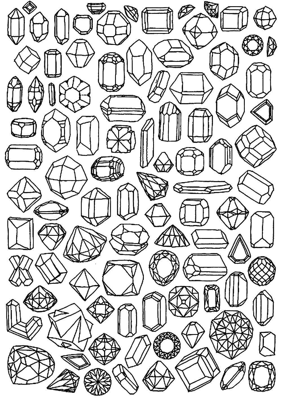Раскраски драгоценности Раскраски драгоценности, раскраски с драгоценными камнями и украшениями