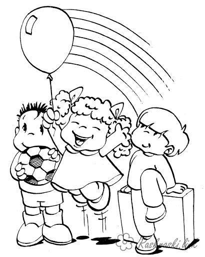 Раскраски день защиты детей Раскраски день защиты детей, раскраски с детьми к празднику